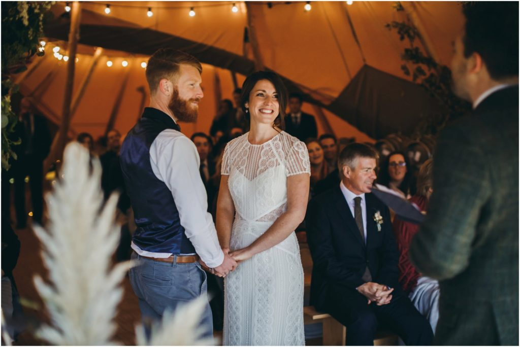 Cotswolds tipi wedding